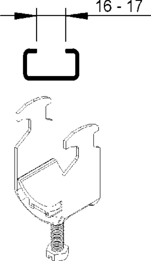 Hammerfuß-Bügelschellen BK 30 mit Gegenwanne GW 30